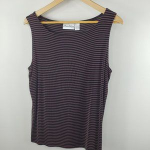 Private Edition By Chico's Strip Tank Size 2